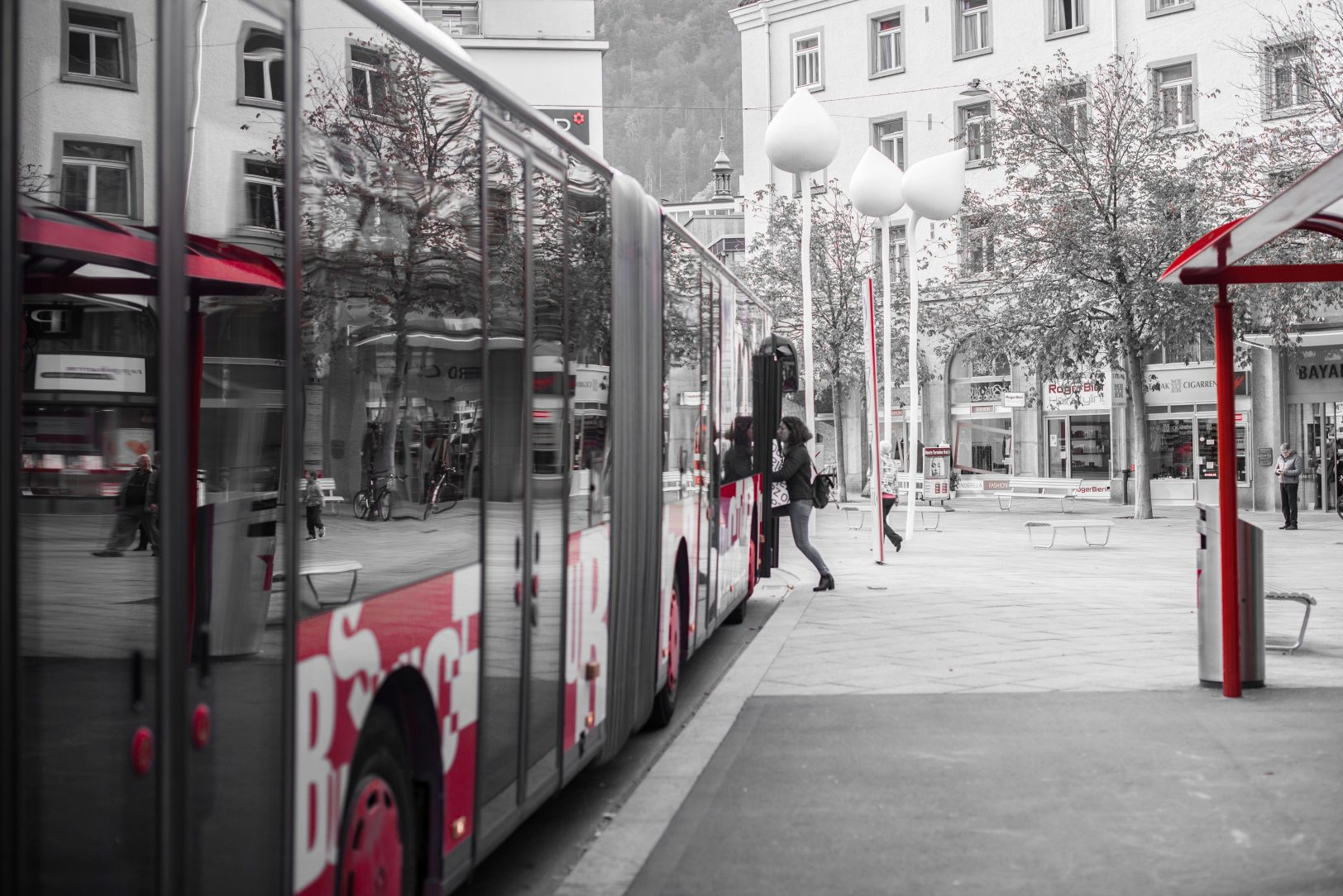 Chur Bus Bus Haltestelle